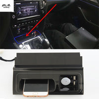 10W QI wireless charging phone charger fast charging plate panel phone holder For 2017-2019 Volkswagen VW PASSAT B8