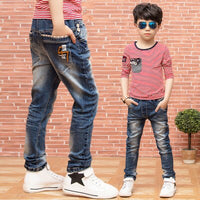 Boys jeans trousers spring new 2019 big children's clothing Korean jeans tide