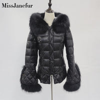 Women Winter Jacket Down Coat Real Fox Fur Collar Down Parka Outerwear Thick Warm Winter Clothing 2019 Fashion Duck Down Jacket
