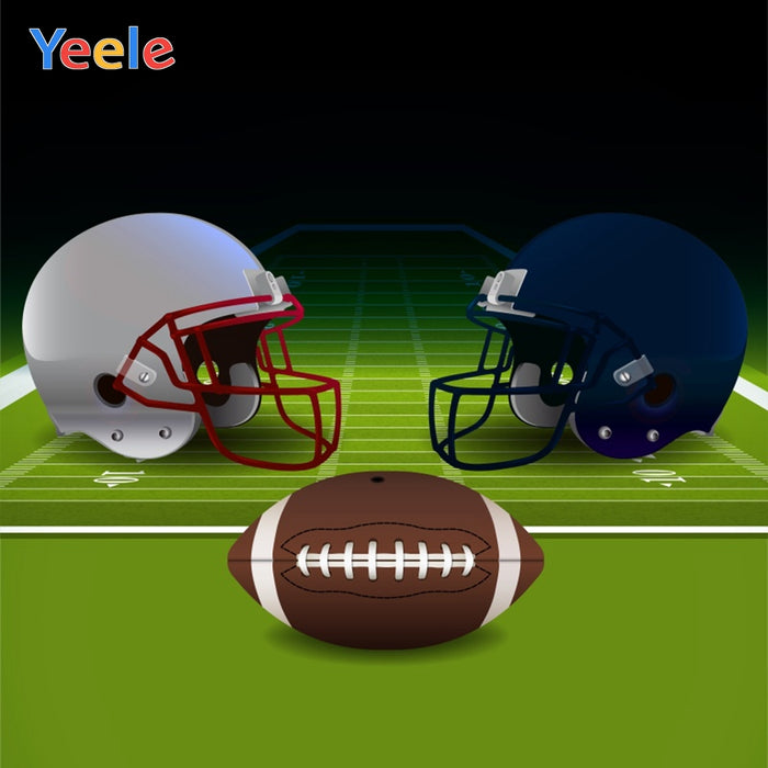 Yeele American Football Helmet Ball Children Photography Backgrounds Boy Soccer Field