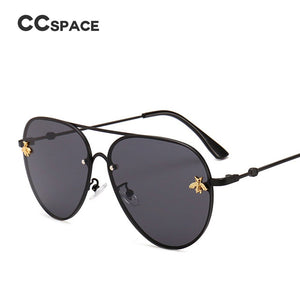 46023 Luxury Bee Pilot Sunglasses Women Fashion Shades Metal Frame Vintage Glasses Men Designer
