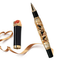 High-Quality Luxury Dragon Ballpoint Pen  0.7MM Nib Vintage Pen for Writing School office supplies