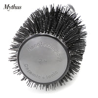 New 4 Size High Temperature Resistant Aluminum Round Hair Comb Professional Hair Styling Brush Top Handle Hairdressing Hairbrsuh