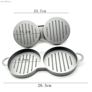 Sweettreat Aluminum Burger Press Hamburger Maker Non Stick Cakes Patty Mold  for BBQ Grill Accessories DIY Home Kitchen Tool