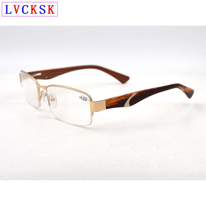 Men Reading Glasses magnifier Vintage Spectacles Presbyopic Eyeglasses Fashion Semi