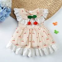 Princess Dog Dress Cherry Pet Dogs Dress Party Puppy Wedding Dresses Chihuahua