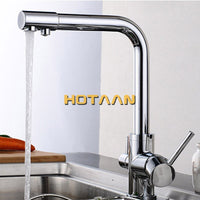 Free shipping Multifunctional New Chrome Pure Water Kitchen Sink Faucet Swivel Spout Mixer Tap With Purified Water outlet 6010-C