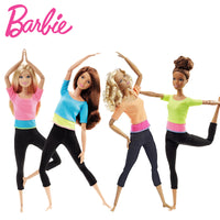 Barbie Authorize Brand 7 Style Fashion Dolls Yoga Model Toy For Little Girl Birthday Gift Barbie Girl Boneca Model DHL81