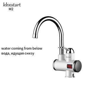 Kbxstart Home Kitchen Touch Faucet Hot Water Heating Tap With Electric Shower 220V Induction