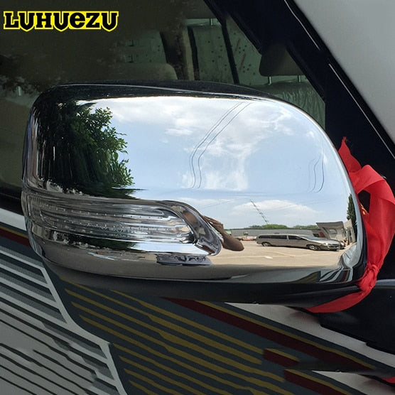 Chrome Rear-view Side Mirror Cover Trims For Toyota Land Cruiser 200 LC200 2012 2013 2014 2015