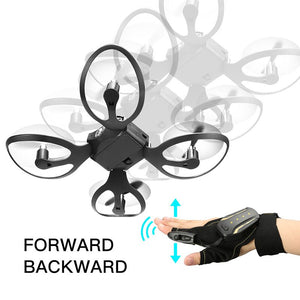 Mini Drone Glove Control Gesture Sensing Foldable RC Helicopter Aircraft With Camera 480P RC Drone Aerial Quadcopter Toys
