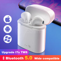 i7s tws Wireless Bluetooth Earphone Headset Stereo Earbud Earphones With Charging Box for Smart Phone Bluetooth Headphone
