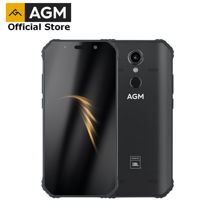 "OFFICIAL AGM A9 JBL Co-Branding 5.99"" FHD+ 4G+32G Android 8.1 Rugged Phone 5400mAh IP68"
