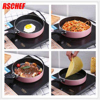 1Pcs 18cm Non-stick Copper Frying Pan with Ceramic Coating and Induction cooking