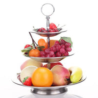 NEW Fruit Bowl 3 Tier Rack Stainless Steel Fruit Stand Holder for Household #CW