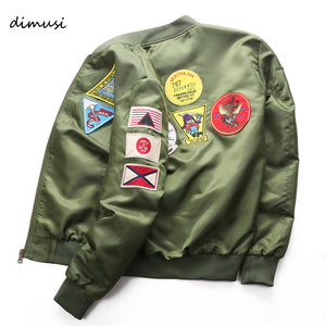DIMUSI Bomber Jacket Mens  Ma-1 Flight Jacket Pilot Air Force Male Ma1 Army Green Military motorcycle Jacket and Coats 6XL,TA039