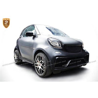 FRP CF Fiber Glass Body Kits Fit For Benz 2015-2017 Smart Fortwo C453 A Style Body Kit Bumper Side Skirts Roof Spoiler Wing