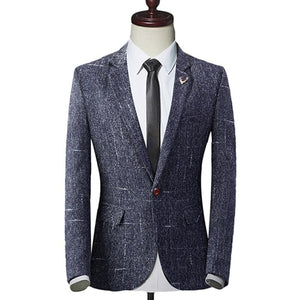 2018 Fashion New Men's Casual Boutique Business One Button Suit / Male Slim Blazer Jacket Coat