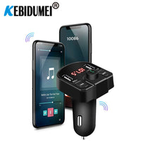 Bluetooth FM Transmitter 4.2 MP3 Player Handsfree Car Kit support TF Card U disk QC2.0 3.1A Fast Dual USB Charger Power Adapter