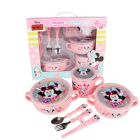 Disney baby 7pcs cutlery set stainless steel shatter-resistant food supplement bowl fork spoon