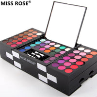MISS ROSE make up case makeup set of 144 colors matte shimmer eye shadow 3 colors eyebrow pressed Blush powder eyeshadow makeup