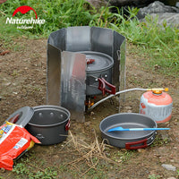 Naturhike Ultralight Outdoor 8 Plates Foldable Wind Shield For Camping Stoves Cooker NH15F008-B