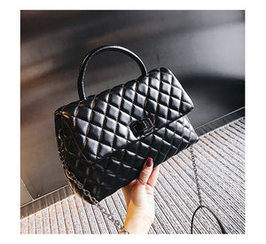 DORANMI Diamond Lattice Handbag Bags For Women 2019 Luxury Brand Designed Chic Top-handle Bag Female Shoulder Bag Bolsa DJB1020