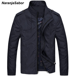 NaranjaSabor Mens Brand Clothing 2020 Autumn Men's Jackets Spring Mens Coats Slim Trench Male Windbreaker Casual Outerwear 4XL