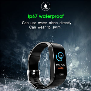 OGEDA Men Smart Watch Sports Bracelet Heart Rate Blood Pressure Health Monitoring IP67 Waterproof Fitness Tracker CK18S Hour New