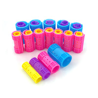 28pcs/set 4 Sizes Snap on Hair Rollers Plastic Hair Curlers Steam Curling Bar with Self-Clips