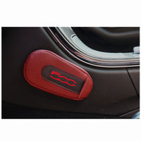Car styling For Fiat 500 Soft Leather Leg Cushion Knee Pad Armrest pad Interior Car Accessories