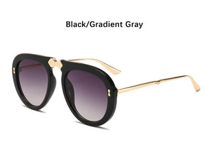 Luxury Oversized Sunglasses Women Retro Brand Designer Big Frame Sun Glasses Trendy