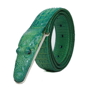 SAN VITALE 3D crocodile famous brand Leather Belt Designer Men Belts Luxury Brand smooth