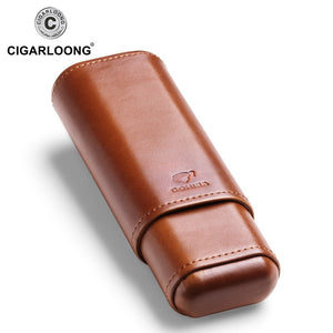 COHIBA cigar case holds 2 cigars portable humidor box travel leather cigar case CF-1901