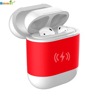 Binmer Hot sale Wireless Charger Receiver Charging Headset Smart Cover Case  for Apple AirPods for dropshipping 2019 New Style
