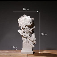 Europe Office Desktop Sulpture Art Home Furnishing Decoration Resin Animal Statues