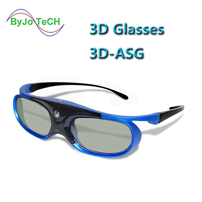 Universal Battery DLP Active Shutter 3D Glasses  96-144Hz For XGIMI JMGO Most DLP Home Theater