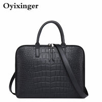 Ladies Computer Hand Bags Women Office Handbag Girls Leather Shoulder Bag Woman Business