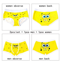 brand quality couple underwear cotton cartoon underpants soft modal panties