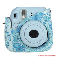 Shoulder Camera Bag Protective Case Colorful Forest Patterns Leather Camera Bag for Fujifilm Instax Mini 8/ MINI8+/ 9