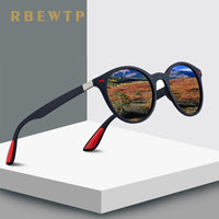 RBEWTP DESIGN Unisex 2019 Round Frame Classic Polarized Sunglasses Men Women Driving Sun Glasses Male Goggle UV400 Gafas De Sol