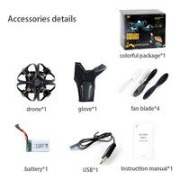 Glove Control Gesture Sensing Mini Drone Foldable RC Helicopter Aircraft One Key Return Gesture Roll Drone Aerial Quadcopter