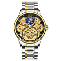 Tevise Automatic Watch Men Mechanical Watches Hollow Skeleton Self-Winding Male Luxury
