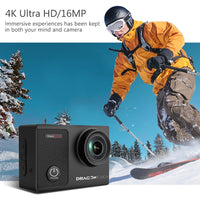 Dragon Touch Action Camera 4K 16MP Vision 3 Pro with Touch Screen WIFI 100ft Waterproof Camera 170 ° Wide Angle Sport Camera