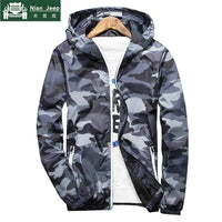 Brand 2018 Autumn Hooded Jackets Men Thin Camouflage Military jacket Male Plus Size M-3XL Quick Dry Men Windbreaker Skin Jacket
