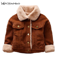 2019 New Winter Baby Girls Jacket Boys Coat Children Fur collar Warm Jacket 0-4Y Kids Toddler Xmas Snowsuit Outerwear Clothing