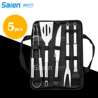 10pc  Grill Accessories Set -Heavy Duty Stainless Steel Barbecue Grilling Utensils with Non-Slip