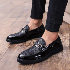 Fashion 2019 Spring Autumn Men Dress Shoes outdoor Business Male Leather Men Shoes Slip-on Round Toe wedding party shoes l5