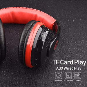 Over Ear Bass Stereo Bluetooth Headphone Wireless Headset Support Micro SD Card Radio Microphone