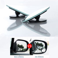 1 piece 360 Degree Blind Spot Car Convex Mirror Wide Angle Round Rearview Mirror For Parking Rear View Mirror Rain Shade safety